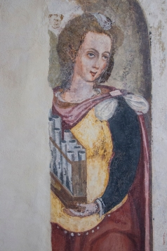 Wall paintings in the Pousada Vila Vicosa