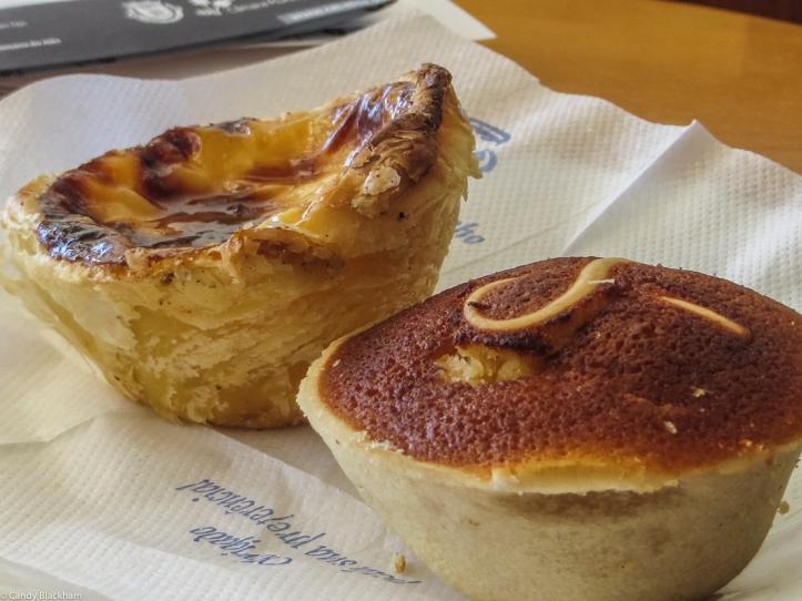 Pastelle de Nata & an orange & almond tart in Nisa