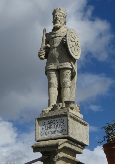 One of the King's Statues in the Bishop's Palace Gardens, Castelo Branco