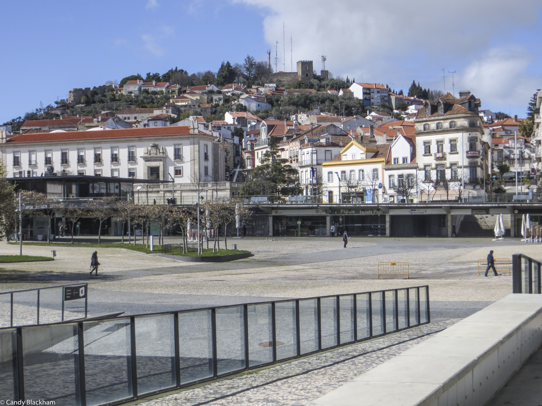 The Castle of Castelo Branco from the new square in the centre of the town