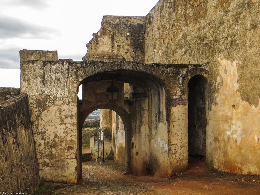 Entrance gate to the Castle of Ouguela