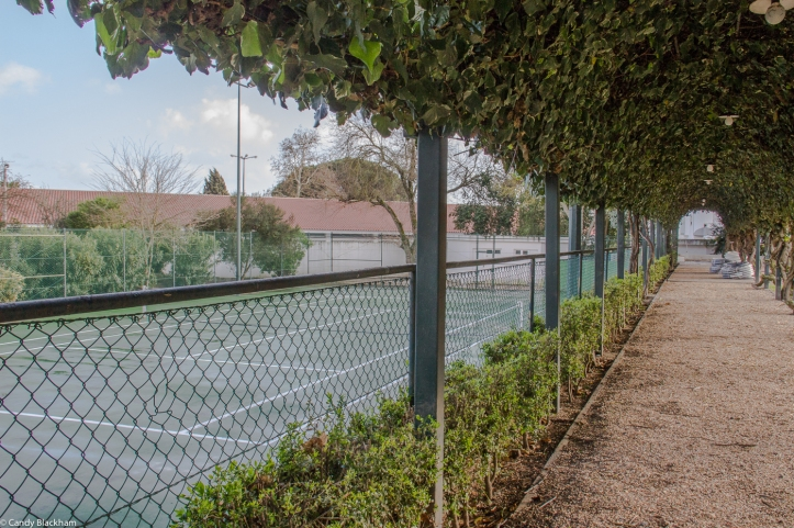 Tennis courts at the Pousada Sao Francisco in Beja
