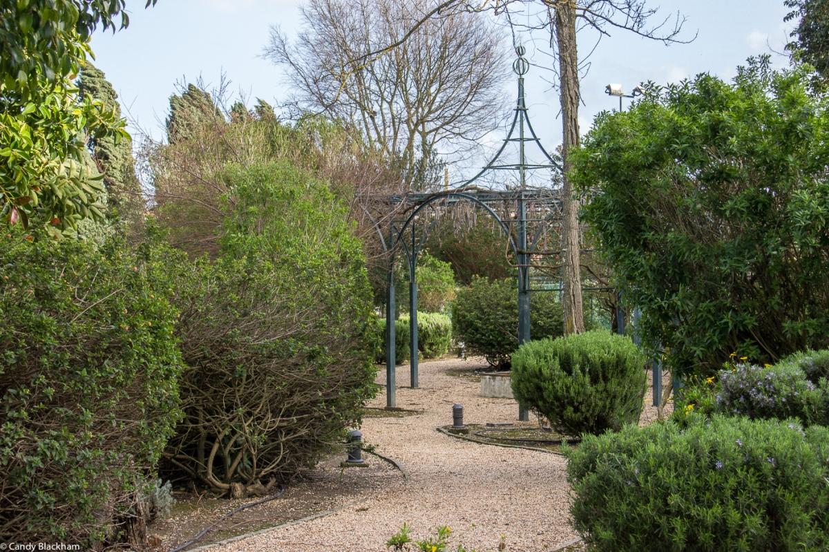 The gardens of the Pousada Sao Francisco in Beja