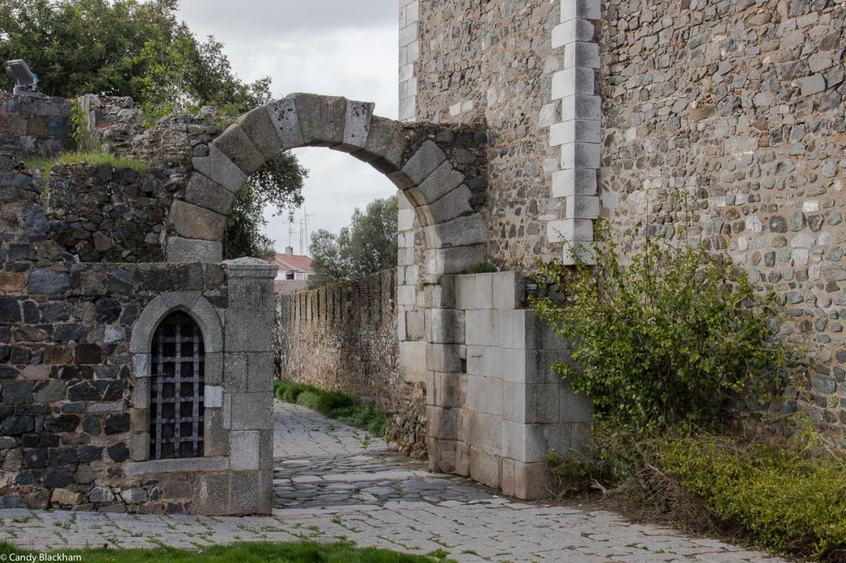 A Roman gateway next to the Castle