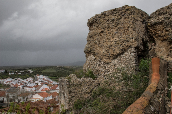 The outer walls of the castle, Moura