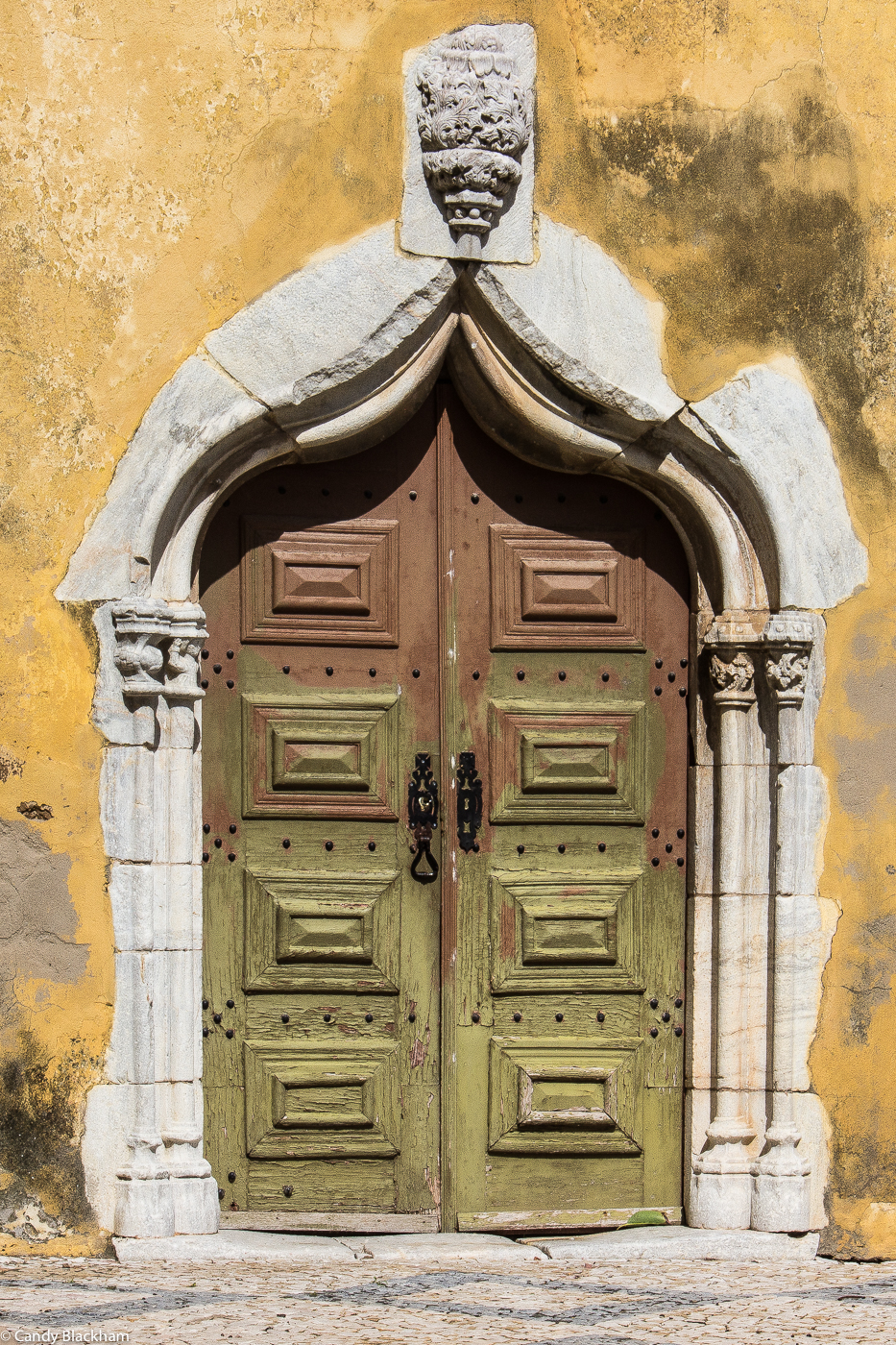 The side door into the Church of St John the Baptist, Moura