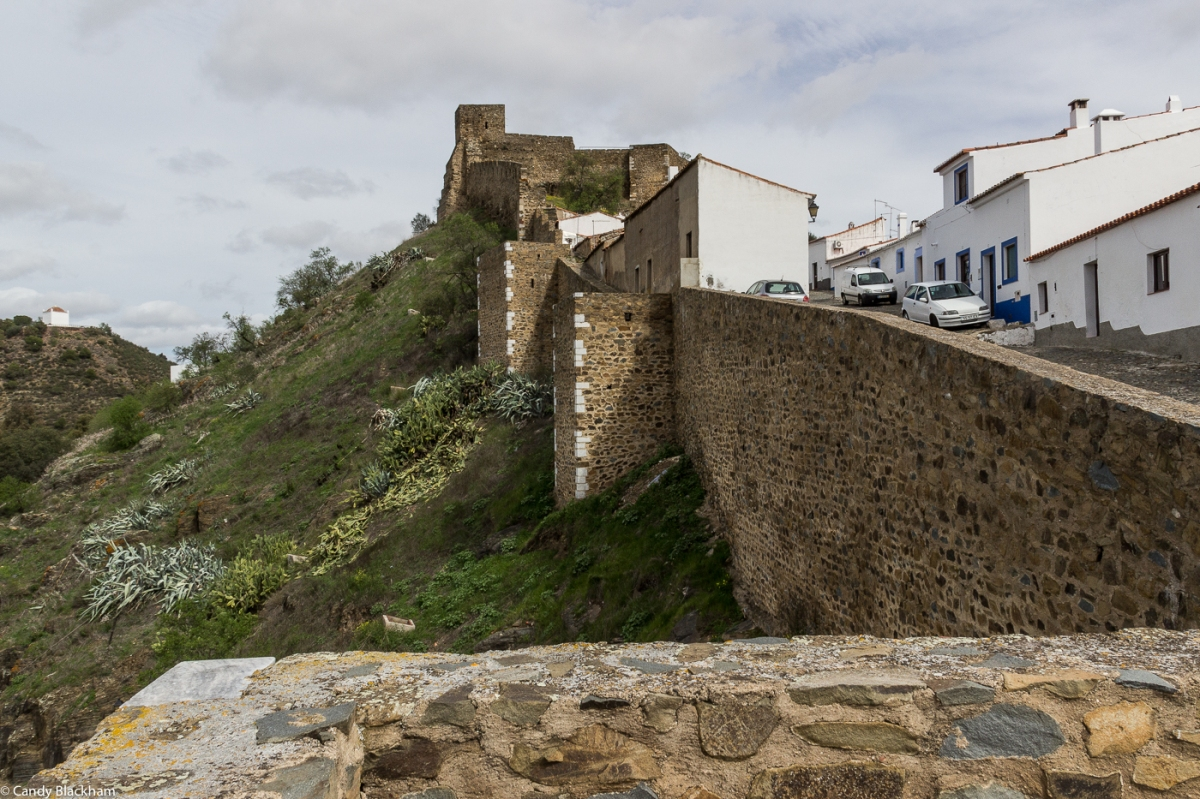 The Moorish walls of Mertola
