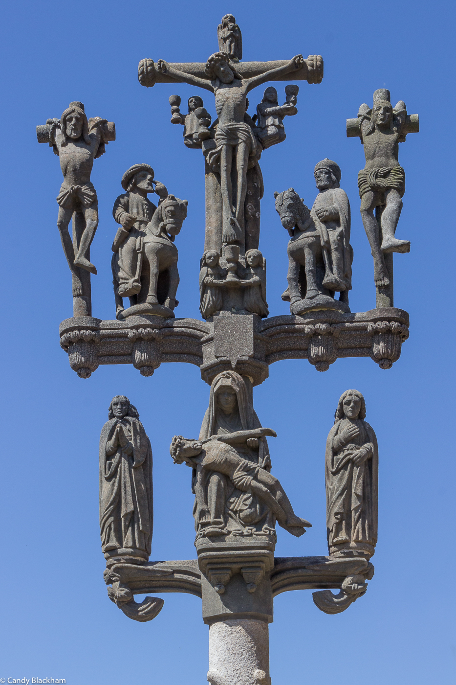 The Calvary at the Church of St Melar, Locmelar