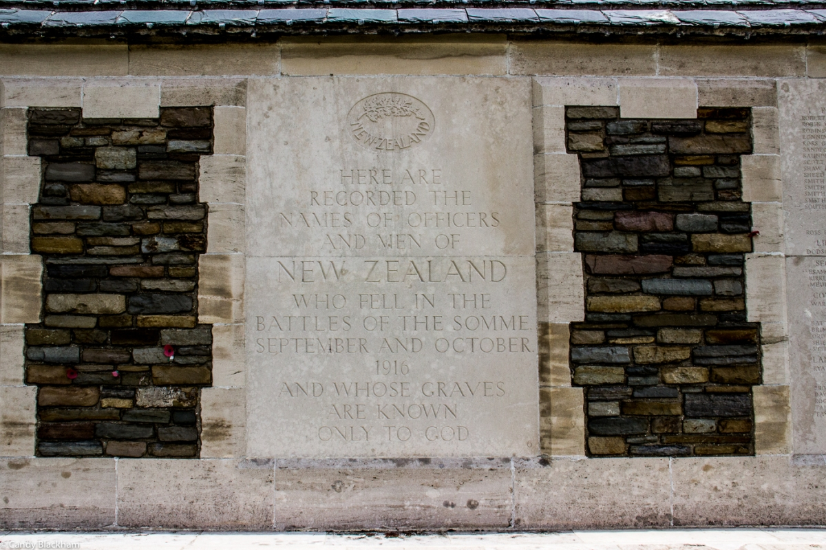 The New Zealand Memorial in Caterpillar Valley Cemetery