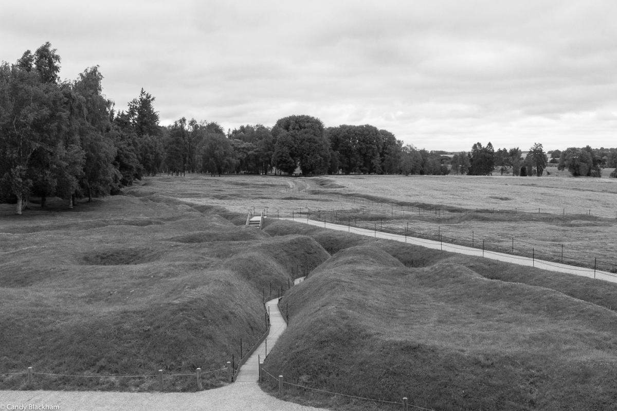 The remains of the trenches at Beaumont-Hamel