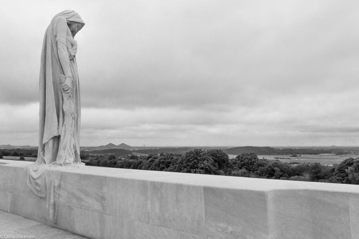 'Canada Bereft' by Walter Seymour Allward on Vimy Ridge