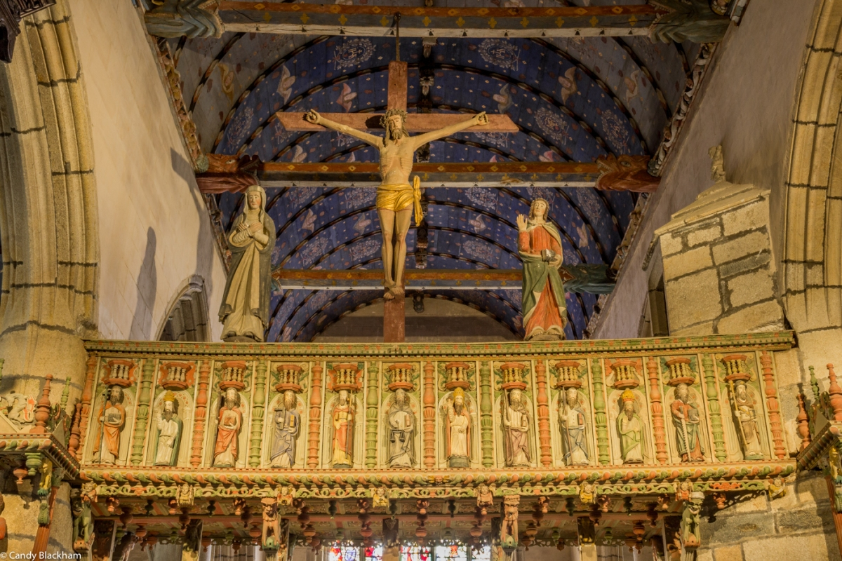 The Glory Beam above the Rood Screen, The Church of St Yves, La Roche-Maurice