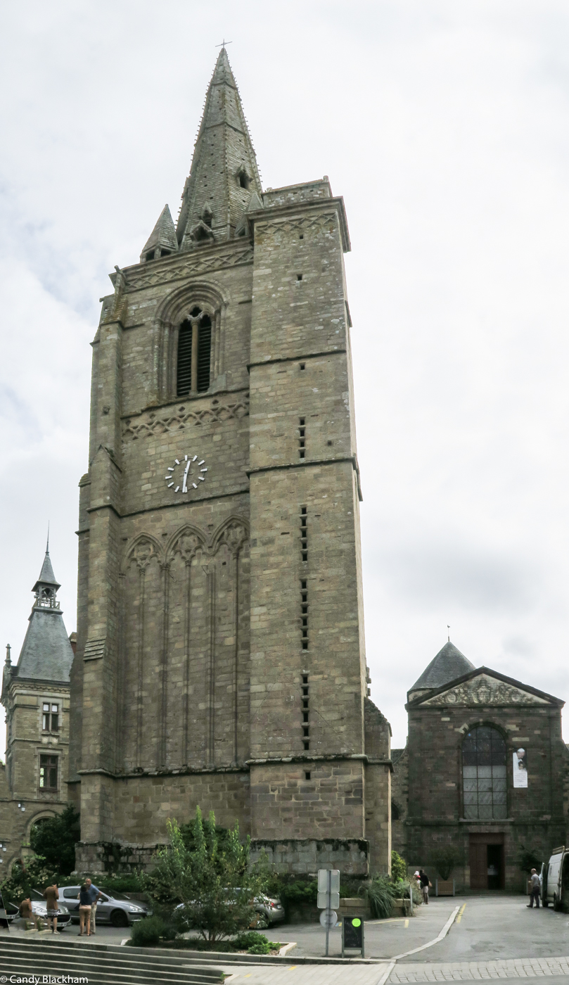 The Gothic Tower of the Abbey of Saint Sauveur, Redon