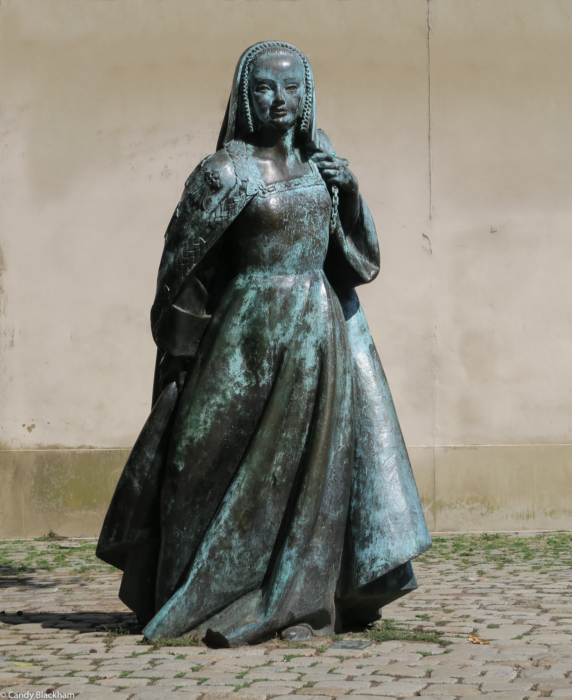 The Duchess Anne, outside the Ducal Palace, Nantes