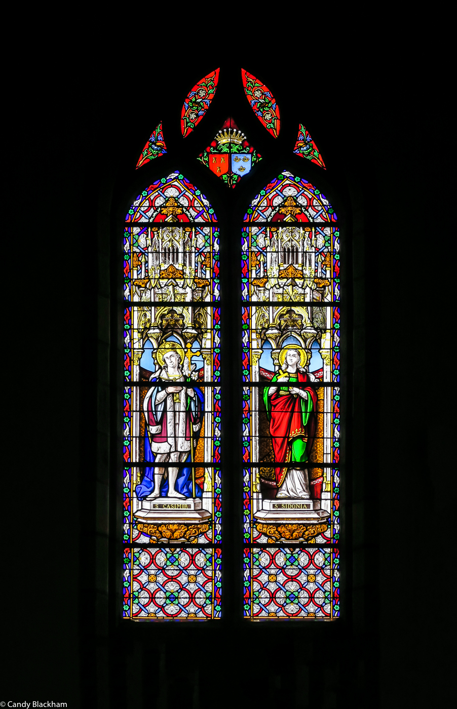 Stained glass in the Church of St Peter, Plouvorn