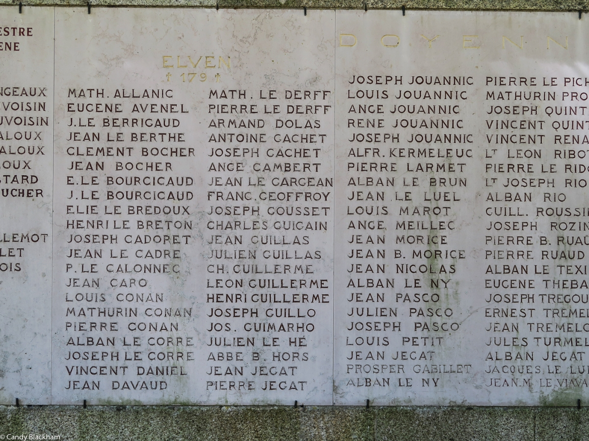 The Bretons who died in WWI