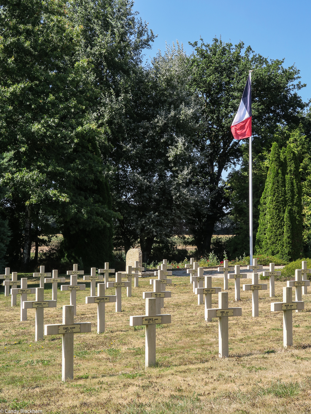 The French cemetery just outside Ste Anne d'Auray
