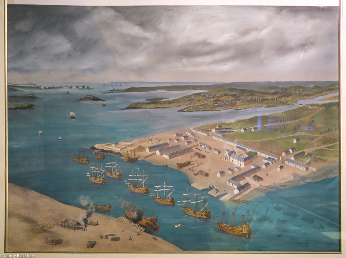 Lorient in the 17C (painting in the East India Museum)