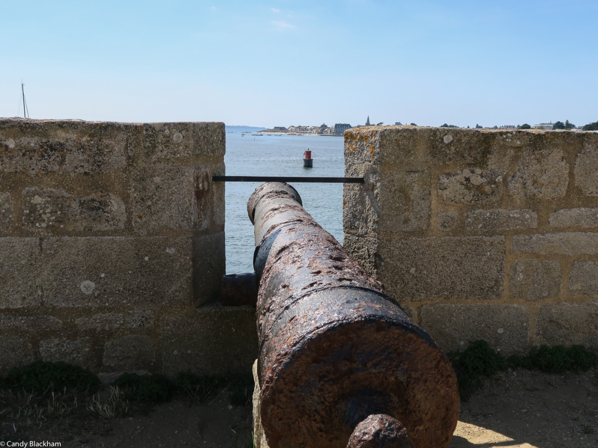 Cannon guarding the sea approach to the River Blavet