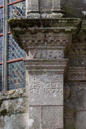 Date on the Ossuary, St Thegonnec