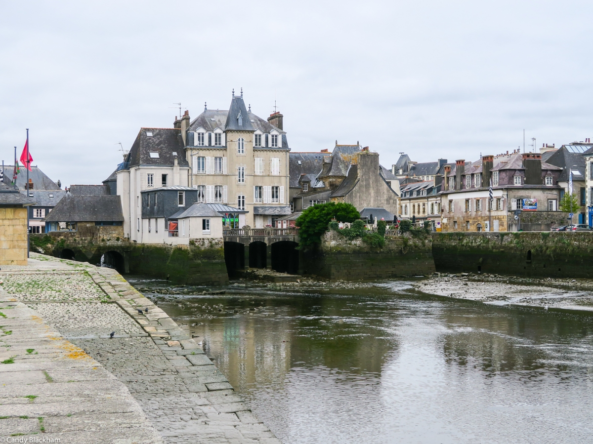 The covered bridge in Landerneau, and the old port