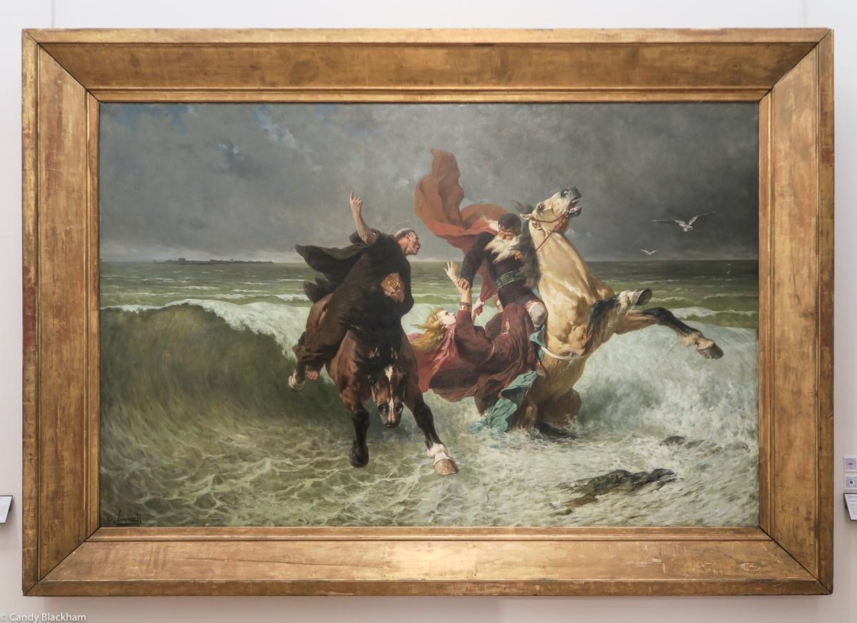 Evariste-Vital Luminais, The Flight of King Gradlon, 1884