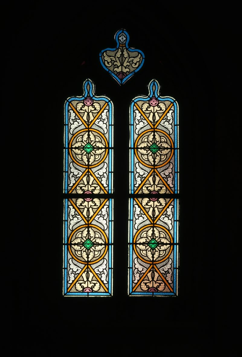 Stained glass in the Church of St John the Baptist, La Feuillee