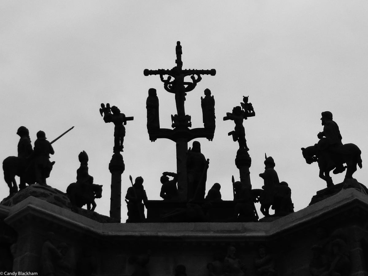 The top part of the Calvary at Pleyben