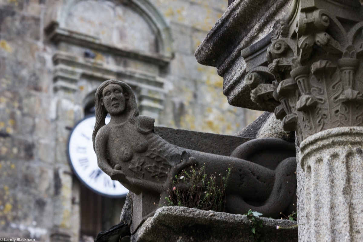 The siren on the outside of the Ossuary, the Church of St Suliau, Sizun