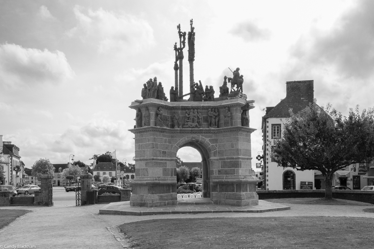The Calvary at Pleyben, looking towards the town's main square