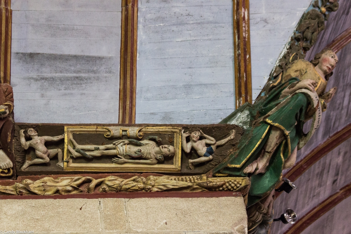 Sablieres in the Church of St Germain, Pleyben
