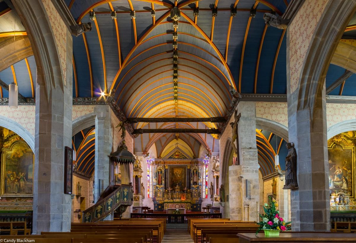 Inside the Church of St Suliau, Sizun