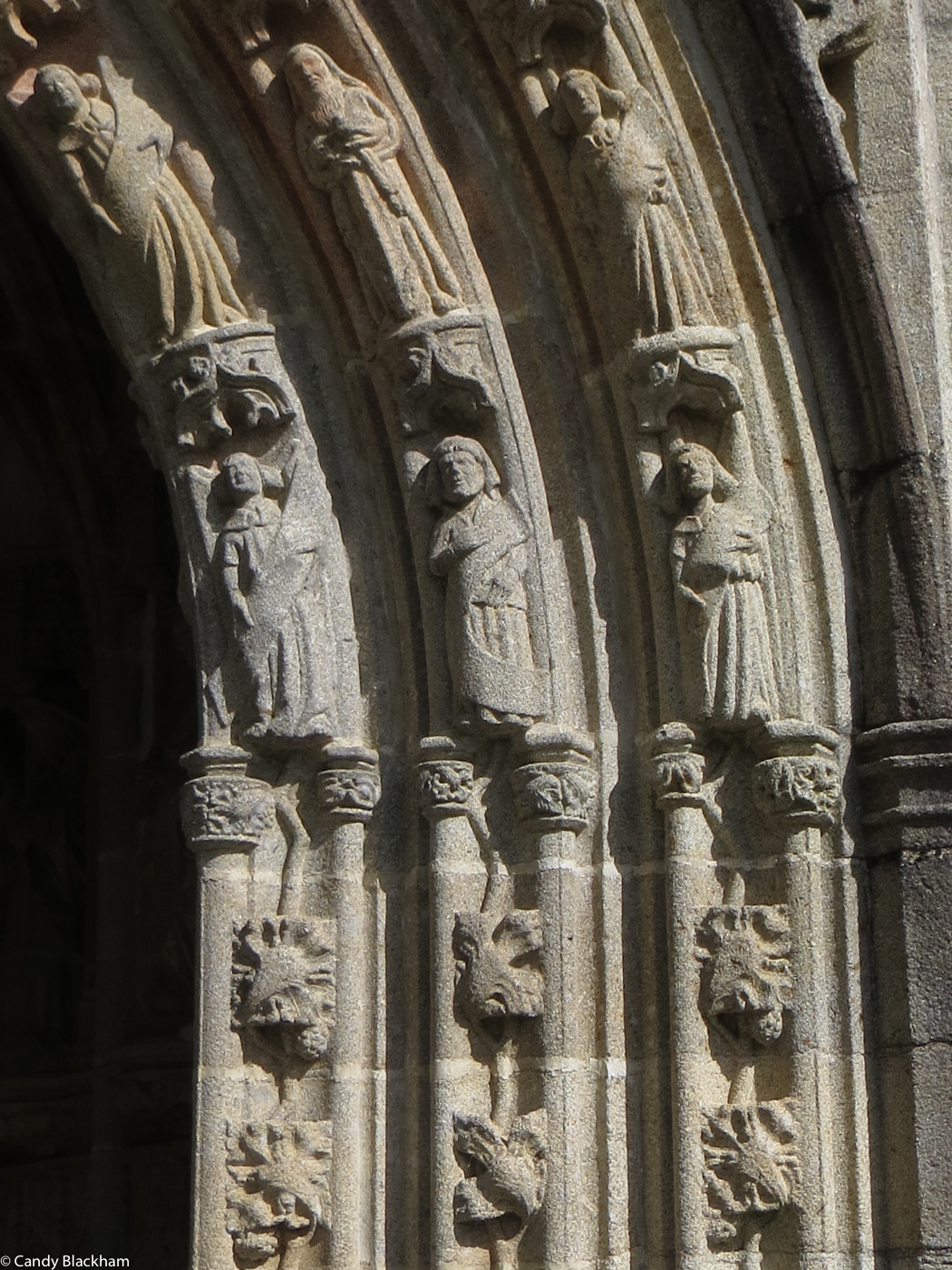Carvings on the South Porch, St Herbot