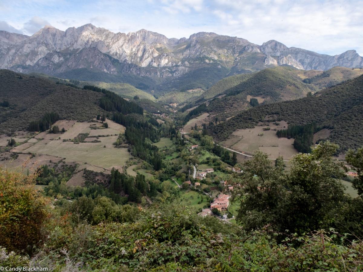 The view towards Fuente De
