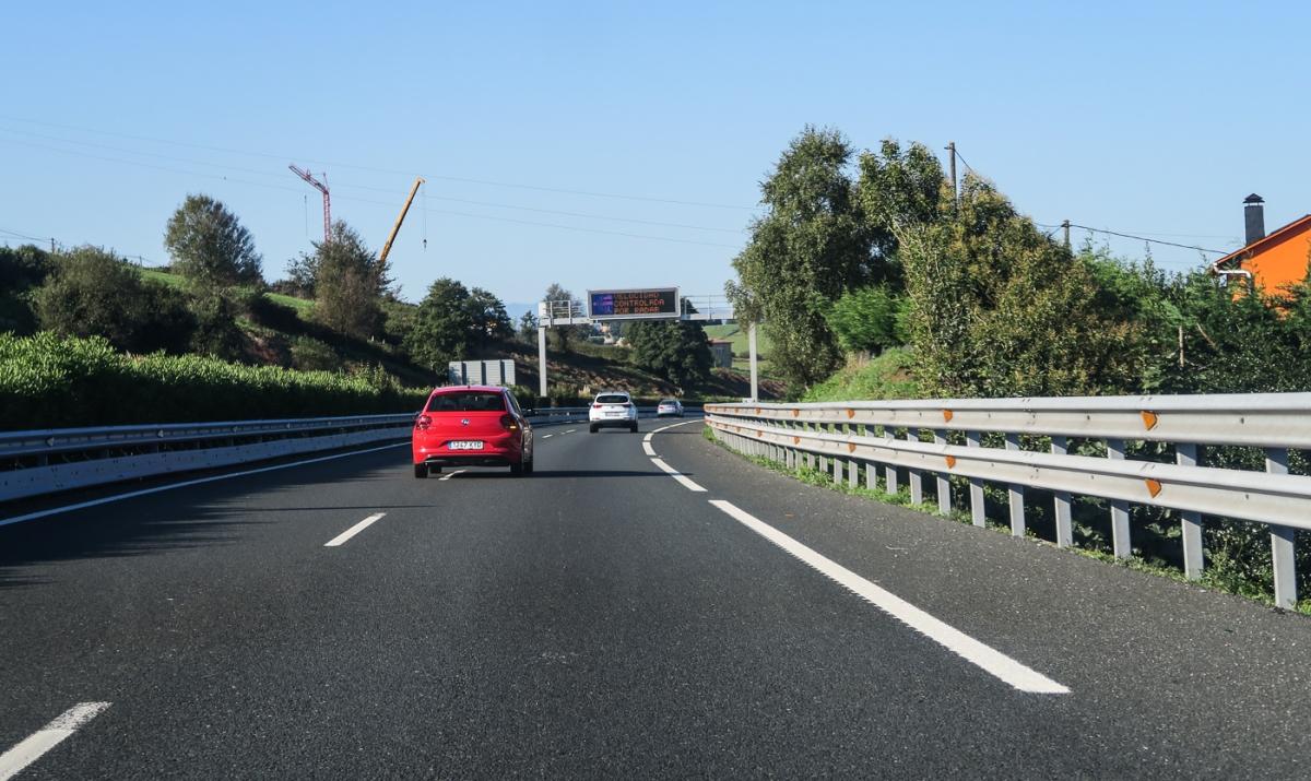 Leaving Santander on the motorway to Oviedo