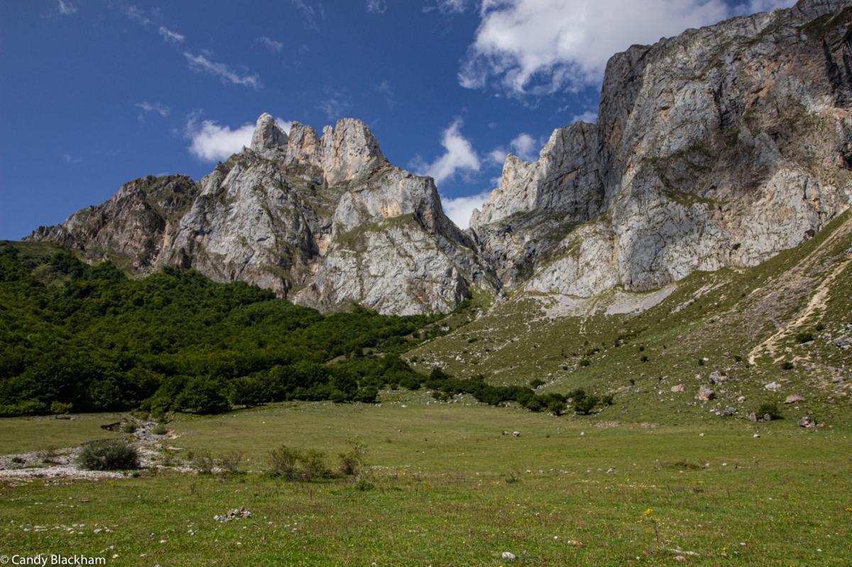 The mountains at Fuente De