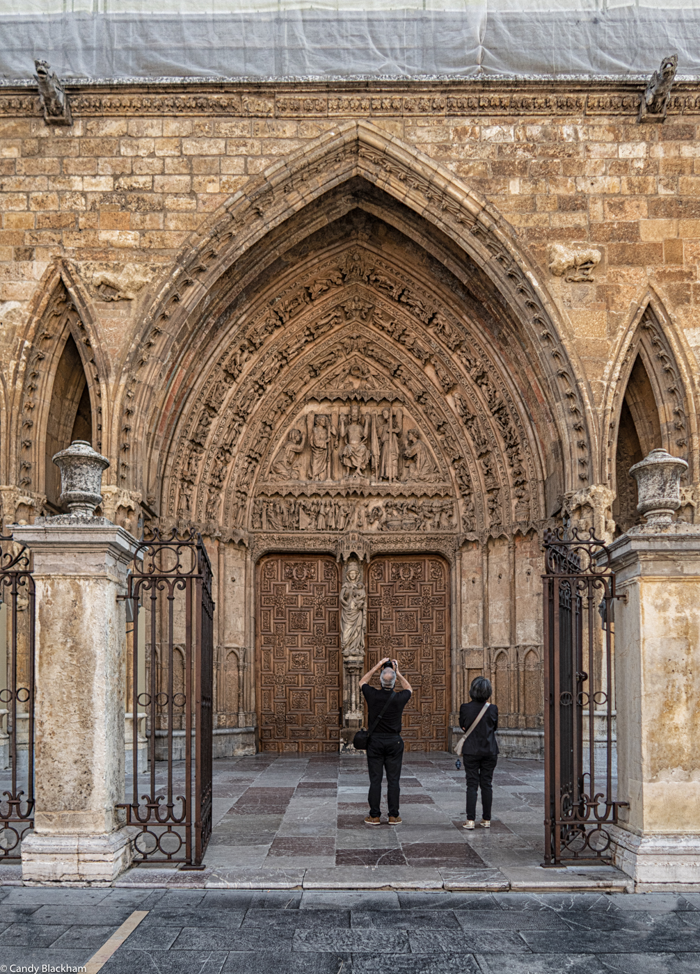 The main door of the Cathedral in Leon