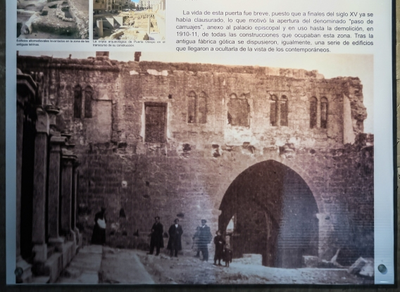 The remains of the Mediaeval Gate (on the site of the Roman Gate) in 1910